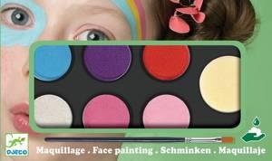 Bilde av Ansiktsmaling, palette med 6 duse farger,